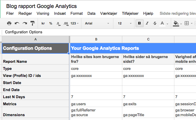 Blog analytics i excell